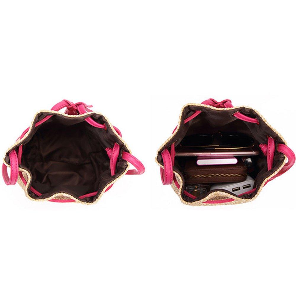 Amazon.com: Womens Single Shoulder Bag, Single Shoulder Straw Bag, 2019 new Water Bucket Bag, Skew Womans Bag: Clothing