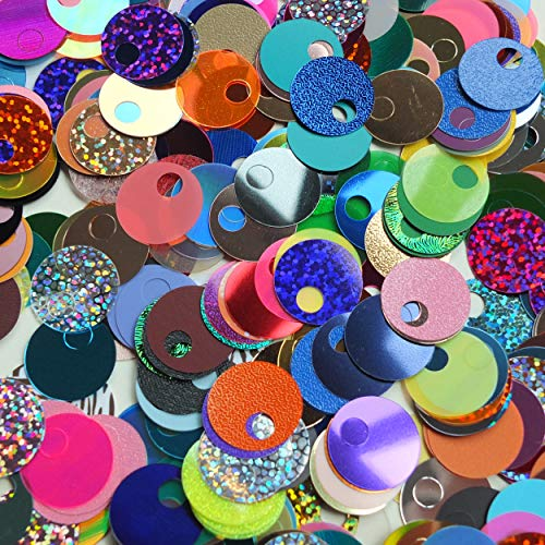 20mm Sequins Large Hole Random Mix Knitting Sewing Paillettes Made in USA