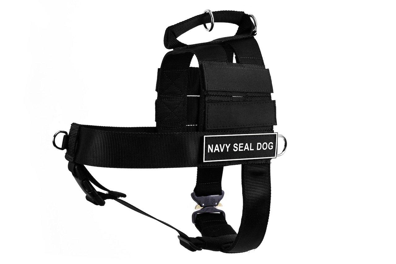Dean & Tyler DT Cobra Navy Seal Dog No Pull Harness, X-Large, Black