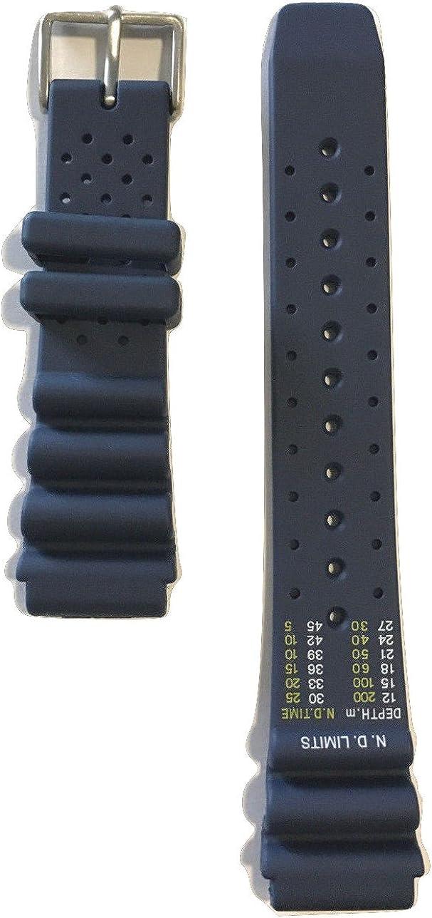 Original Citizen Correa de Banda de Goma Azul para Citizen Promaster Diver Reloj BN0151–09L