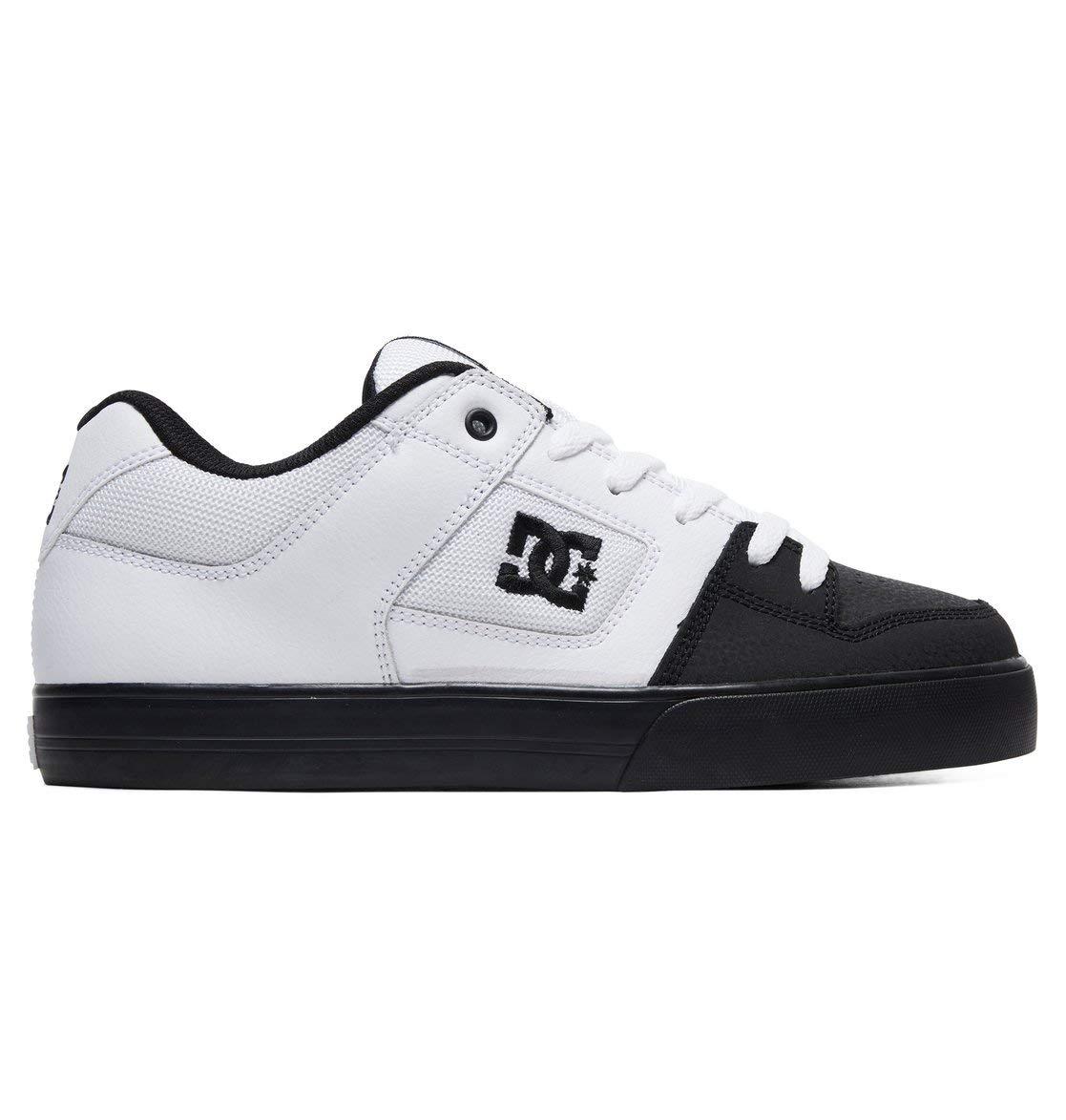 DC Shoes Mens Shoes Pure - Shoes - Men - 6 - White White/Black/Black 6