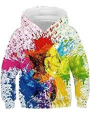 Heymiss Kids Digital Printed Hoodies Fashion Pullover Hooded Sweatshirts 4-13Y