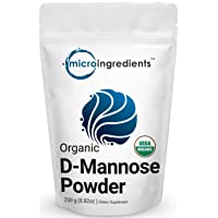 Organic D Mannose Powder, 8.8 Ounce (250 Grams), Pure Mannose Supplement, Powerfully...