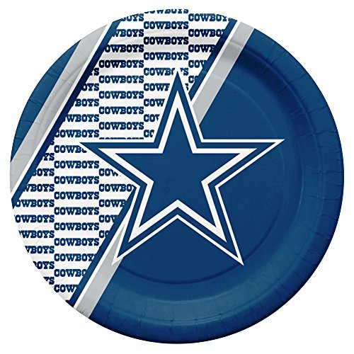 NFL Dallas Cowboys Disposable Paper Plates, Pack of 20]()