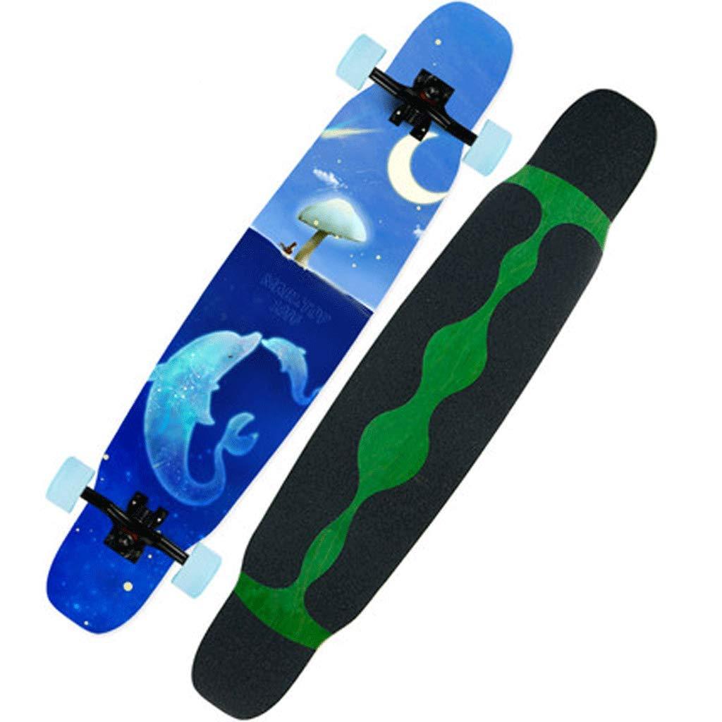 経典 初級成人男性と女性のプロフェッショナルロングボードスケートボード4輪スクーターブラシヒップボードロングボード (色 Dolphin : Snow) B07KS7TP8C Snow) Dolphin B07KS7TP8C Dolphin, ルーペハウス:89be05e2 --- a0267596.xsph.ru