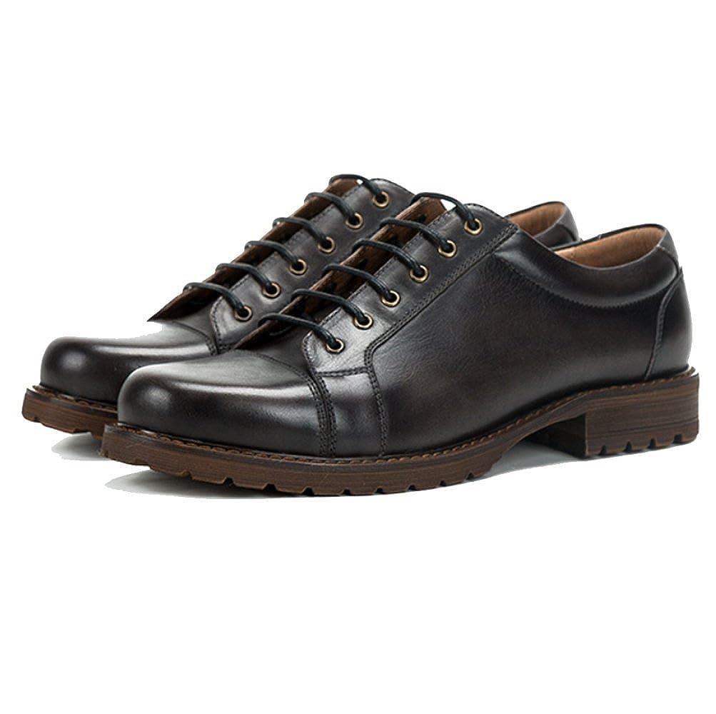 ZPJSZ Männer England Lässig Mode Geschäft Retro Jugend Handarbeit Spitze Lederschuhe,schwarz-38