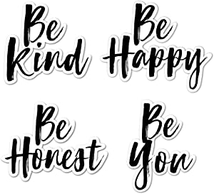 IT'S A SKIN Inspirational Sticker Pack | Vinyl Sticker Decal for Laptop Tumbler Car Notebook Window or Wall | Be Kind, Be Honest, Be Happy, Be You Novelty Decal