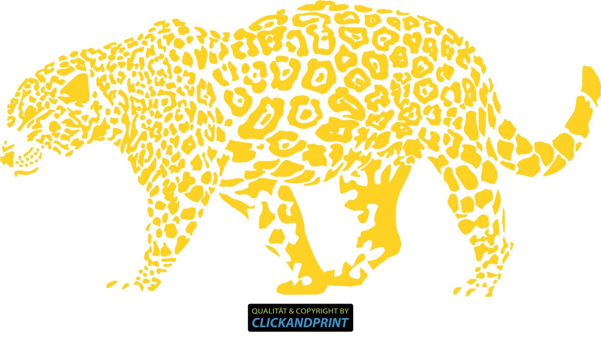 CLICKANDPRINT Aufkleber » Leopard, 150x74,4cm, 150x74,4cm, 150x74,4cm, Türkis • Wandtattoo   Wandaufkleber   Wandsticker   Wanddeko   Vinyl B073X7FMPH Wandtattoos & Wandbilder 48d3c5