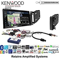 Volunteer Audio Kenwood DNX574S Double Din Radio Install Kit with GPS Navigation Apple CarPlay Android Auto Fits 2009-2010 Ram 2011-2014 Chrysler 200