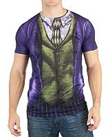 DC Comics Mens Joker Sublimated Costume T-shirt