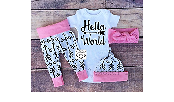Newborn Girl Outfit Baby Girl Coming Home Outfit Toddler Clothes 3 6 9 12 18 months wine watercolor floral All God/'s Grace in One Tiny Face