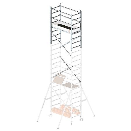 Hailo ProfiStep multi, 2. Aufstockung, Arbeitshöhe: 700 cm (nur mit Grundgerüst + 1. Aufstockung), inkl. Montagezubehör, made