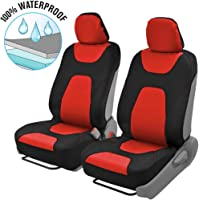 $27 » Motor Trend AquaShield Car Seat Covers for Front Seats, Red – 3 Layer Waterproof Seat…