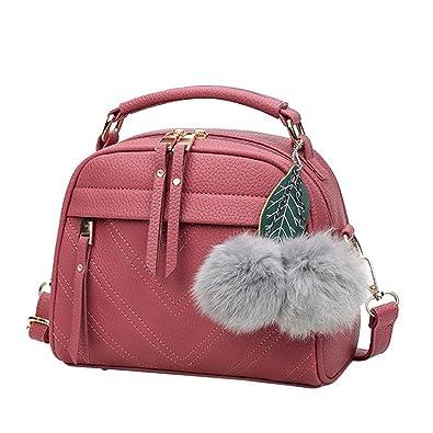 Everpert Women Messenger Handbag Shoulder Bag PU Leather Satchel Bag Cameo a962806310b74