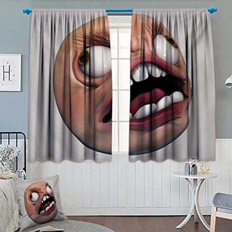 Amazon Com Anhounine Humor Blackout Curtain Angry Rage Guy Meme Bad