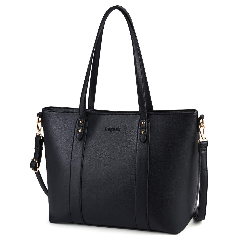 Bageek Tote Bag Handbags for Women Designer Inspired Bags PU Leather Handbag Black Shoulder Bags for Women Mother's day gift