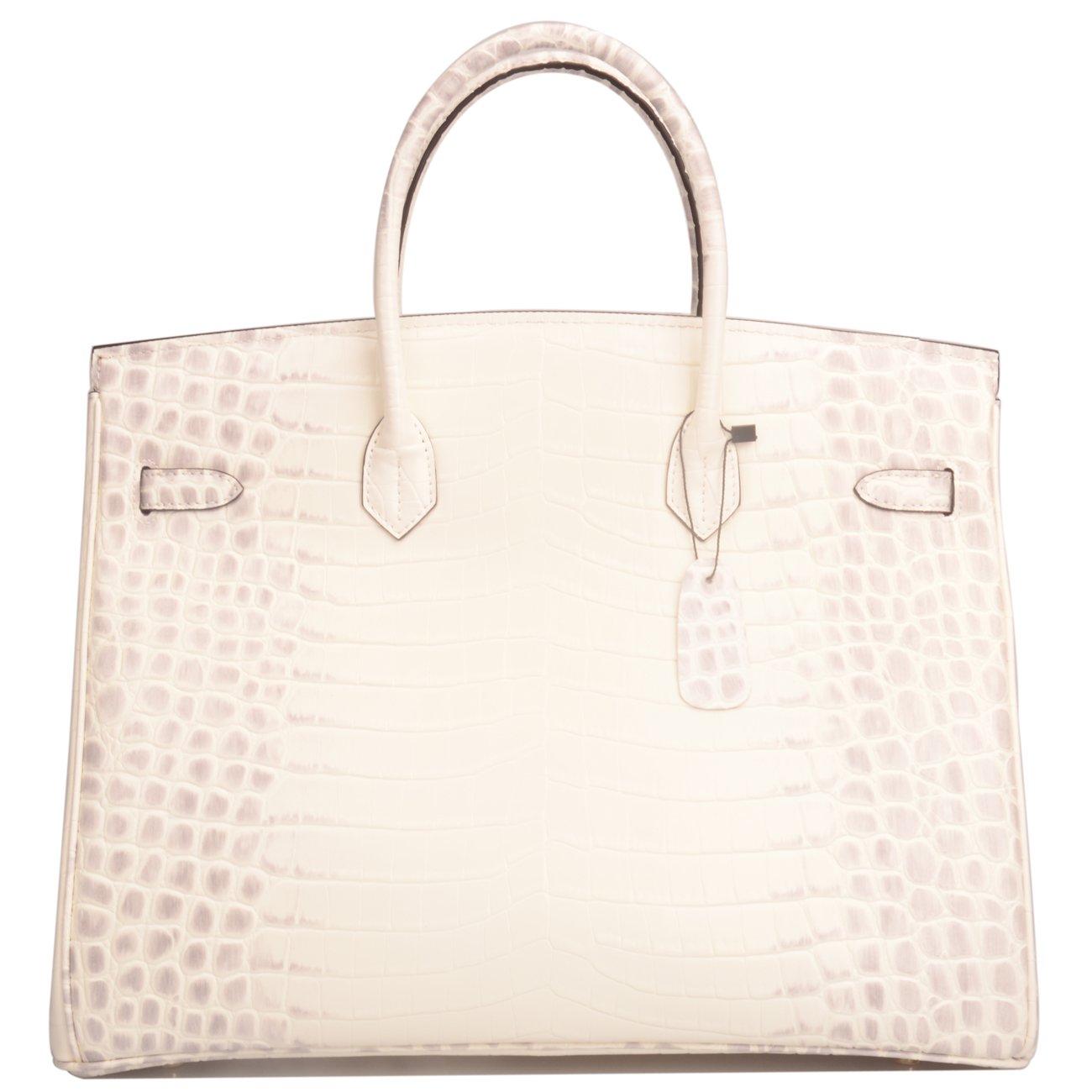 Ainifeel 40cm Oversized Patent Leather Padlock Handbag Business Purse (40cm OVERSIZE, Himalayan) by Ainifeel (Image #4)