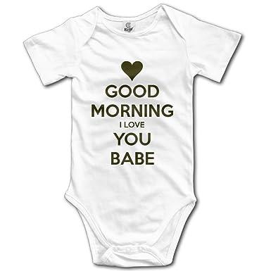 Amazoncom Unisex Babys Short Sleeve Warm Good Morning I Love You