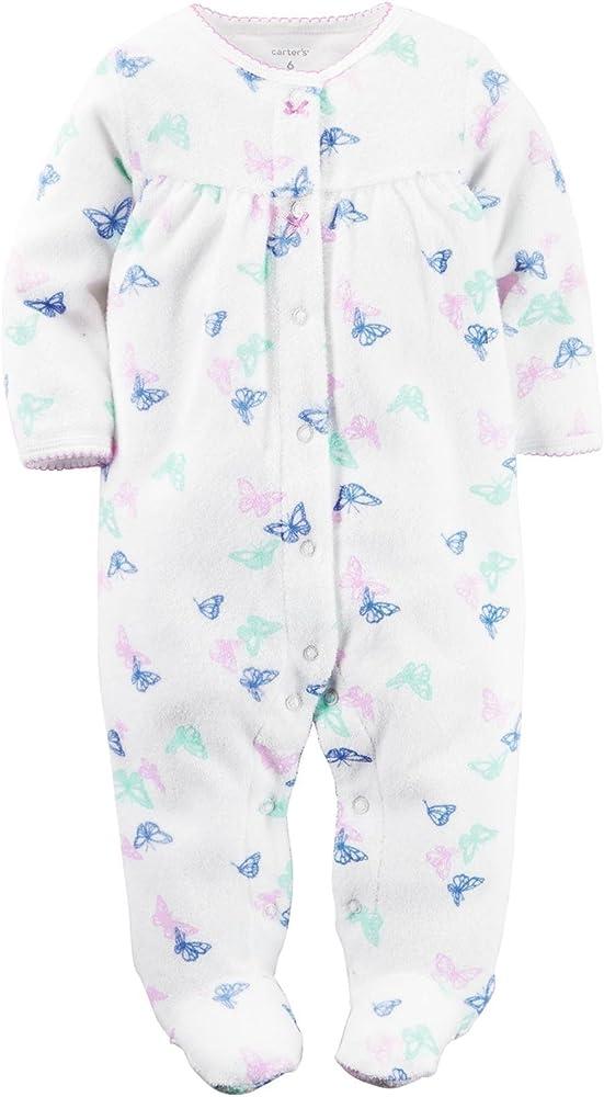 Amazon.com: De Carter Baby Girls Terry Sleep N Play Footie ...