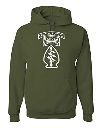 Amazon.com  Got-Tee US Army Airborne Ranger Special Forces Hoodie Sweatshirt   Clothing dbbe90fa8