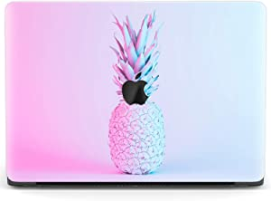Mertak Hard Case for Apple MacBook Pro 16 Air 13 inch Mac 15 Retina 12 11 2020 2019 2018 2017 Blue Fashion Touch Bar Ombre Pineapple Print Fruit Plastic Protective Aesthetic Clear Cover Pink Design