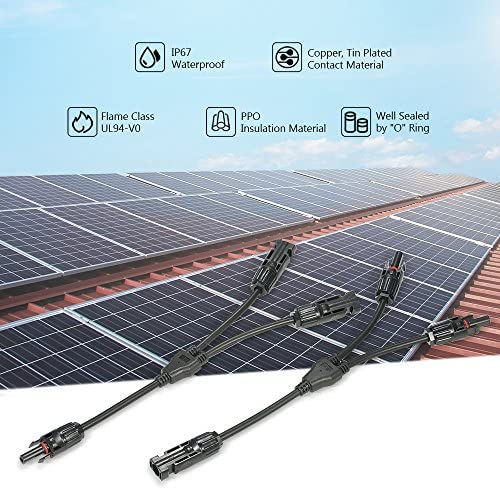 Decdeal 1 Paar Solar Verteiler Stecker Buchse Solarpanel Photovoltaik Multicontact 1 Zu 2 3 4 Optional Küche Haushalt