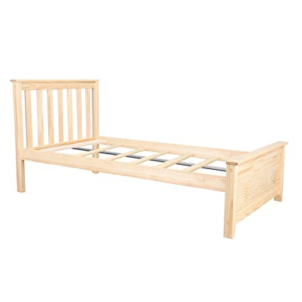Amazon.com: Max & Lily Solid Wood Twin-Size Bed, Natural: Kitchen ...
