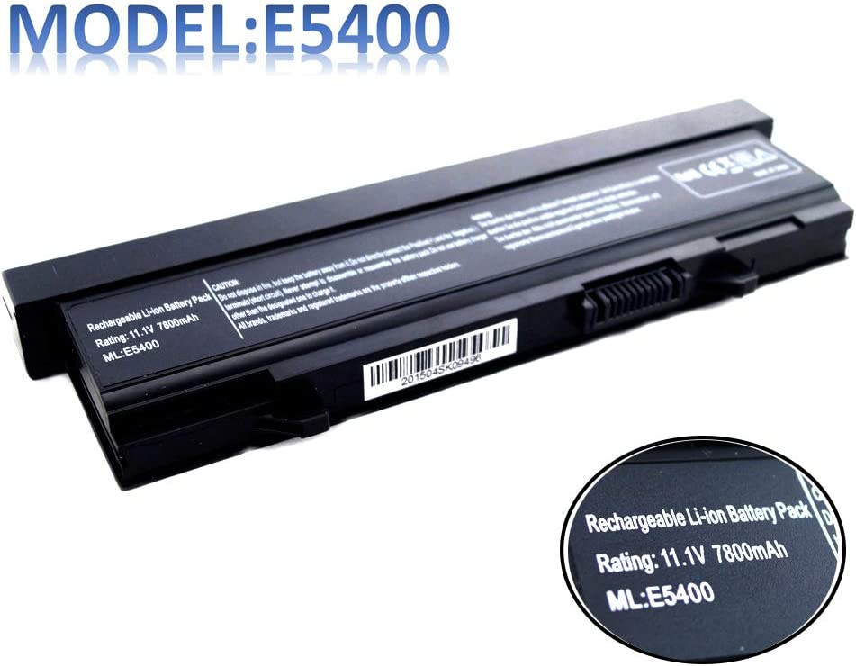 11.1V 7800mAh E5400 Laptop Battery Compatible with Dell Latitude E5410 E5500 E5510 Series,P/N KM668 KM769 RM668 KM742 WU841 KM771