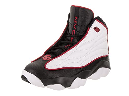 66fb8ac2c320 Image Unavailable. Image not available for. Color  Jordan Nike Kids Pro  Strong BG Black Varsity Red White Basketball Shoe (6.5 Kids