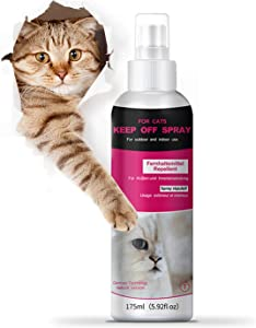 Cat Scratch Deterrent Training Spray, Cat Repellent Spray for Indoor and Outdoor Use - 175ml