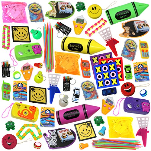 Smart Novelty Jumbo Party Favors Pack of Exciting Toys, Prizes and small games beloved by Kids. Great for Party Giveaways, School Classroom Rewards and Carnival Events (Made and EXCLUSIVELY sold by Smart Novelty
