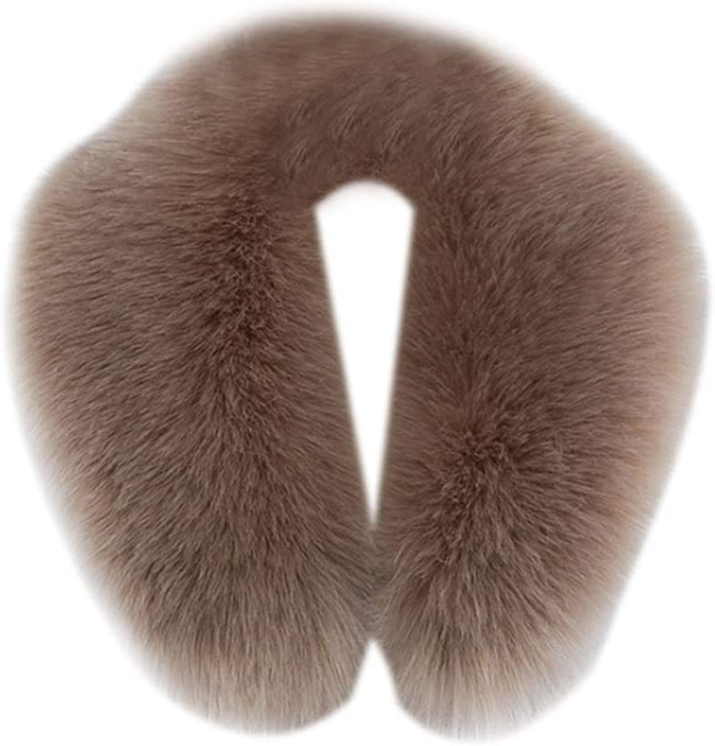 Asudaro Detachable Faux Fur Collar Wrap Imitation Fox Fur Raccoon Fur Collar Trim Wrap Scarf For Winter Coat Jacket Parka