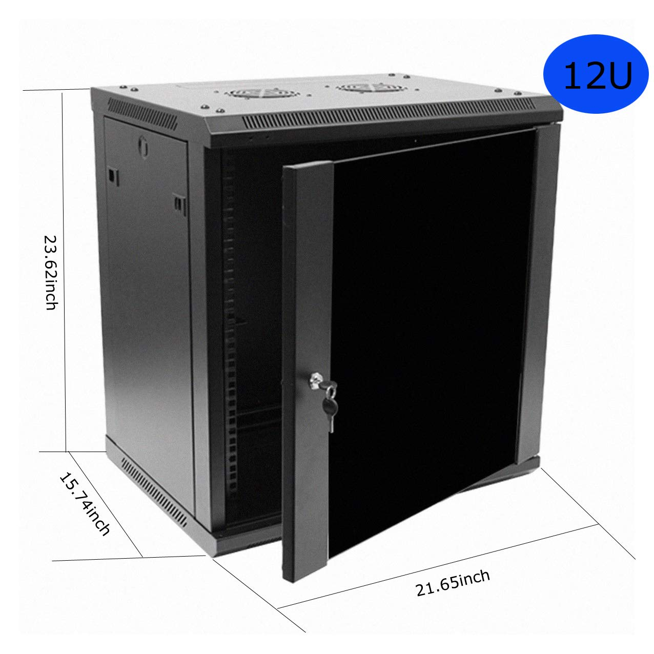 Network Cabinets Network Server Cabinet Rack Enclosure Meshed Door Lock (12U Wall Mount Network)