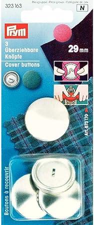 Ottone Argento Prym 19/mm per Bottoni Senza Attrezzi Confezione da 5