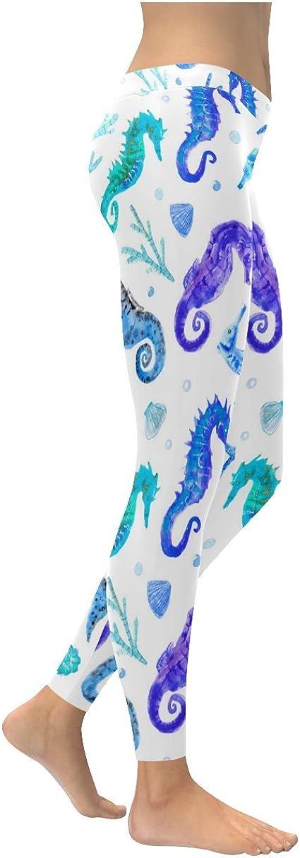 AWAWE Watercolor Ocean Starfish Leggins Gym Outfits