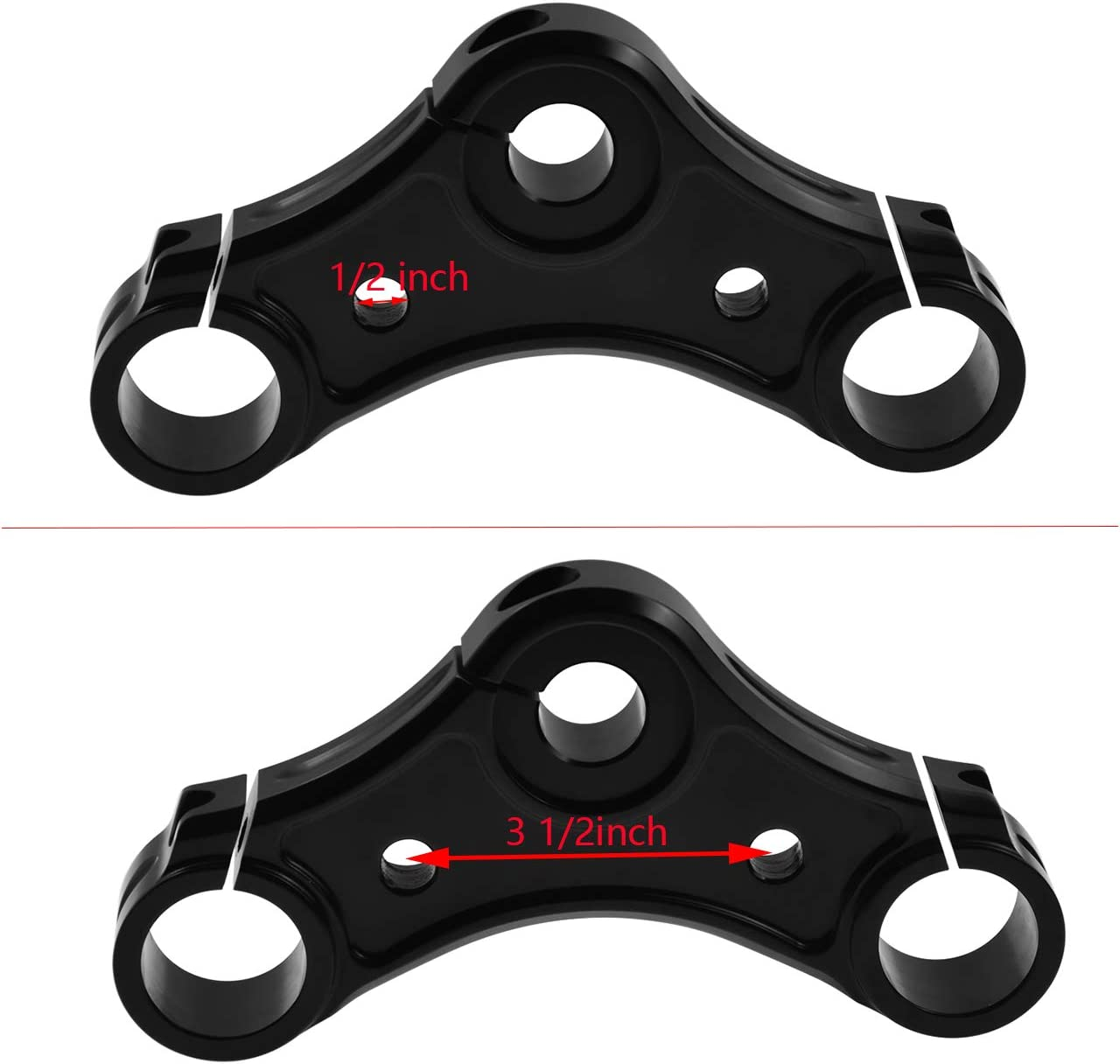 Rebacker Motorcycle Top Triple Clamp with Riser Holes for Harley Sportster XL 883 2004-2017