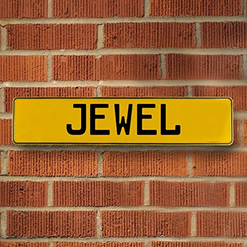 (Vintage Parts 685841 Yellow Stamped Aluminum Street Sign Mancave Wall Art (Jewel))