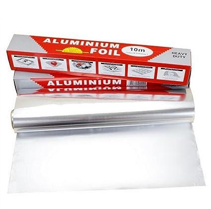 SWIHEL Papel de Aluminio, Rollo de Papel Aluminio, Resistente contra Roturas Herramientas Profesional para
