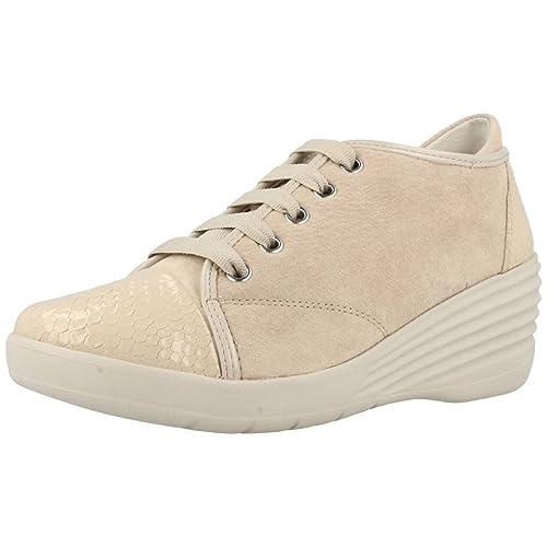 Calzado deportivo para mujer, color Beige , marca STONEFLY, modelo Calzado Deportivo Para Mujer STONEFLY EBONY 1 Beige