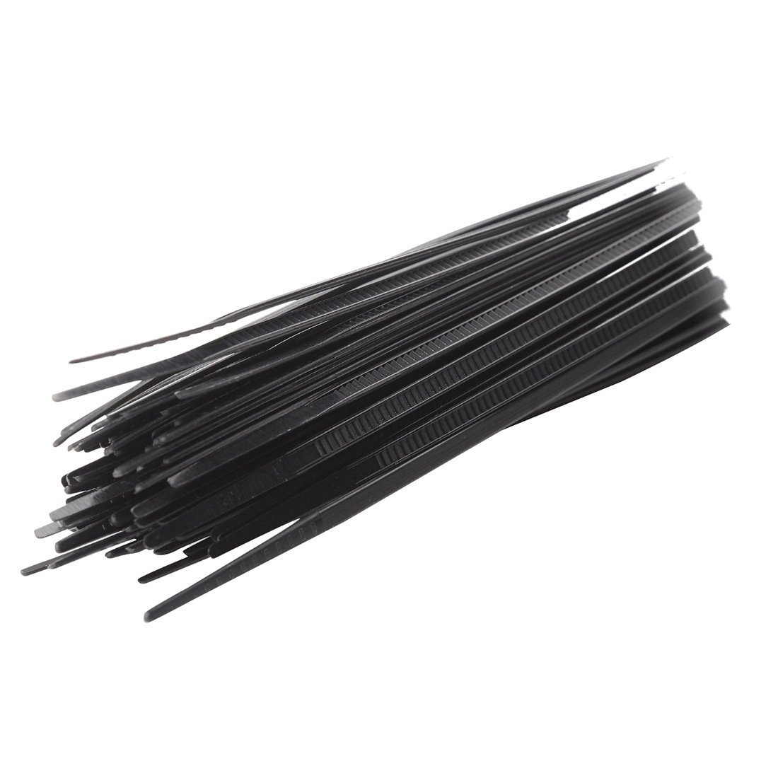TOOGOO 100pcs Attaches De Cable Cravate Emballage /à Zip Sangles De Fil Crochets Plastiques Nylon Autobloquant Couleur Principale 4x300mm Noir Taille