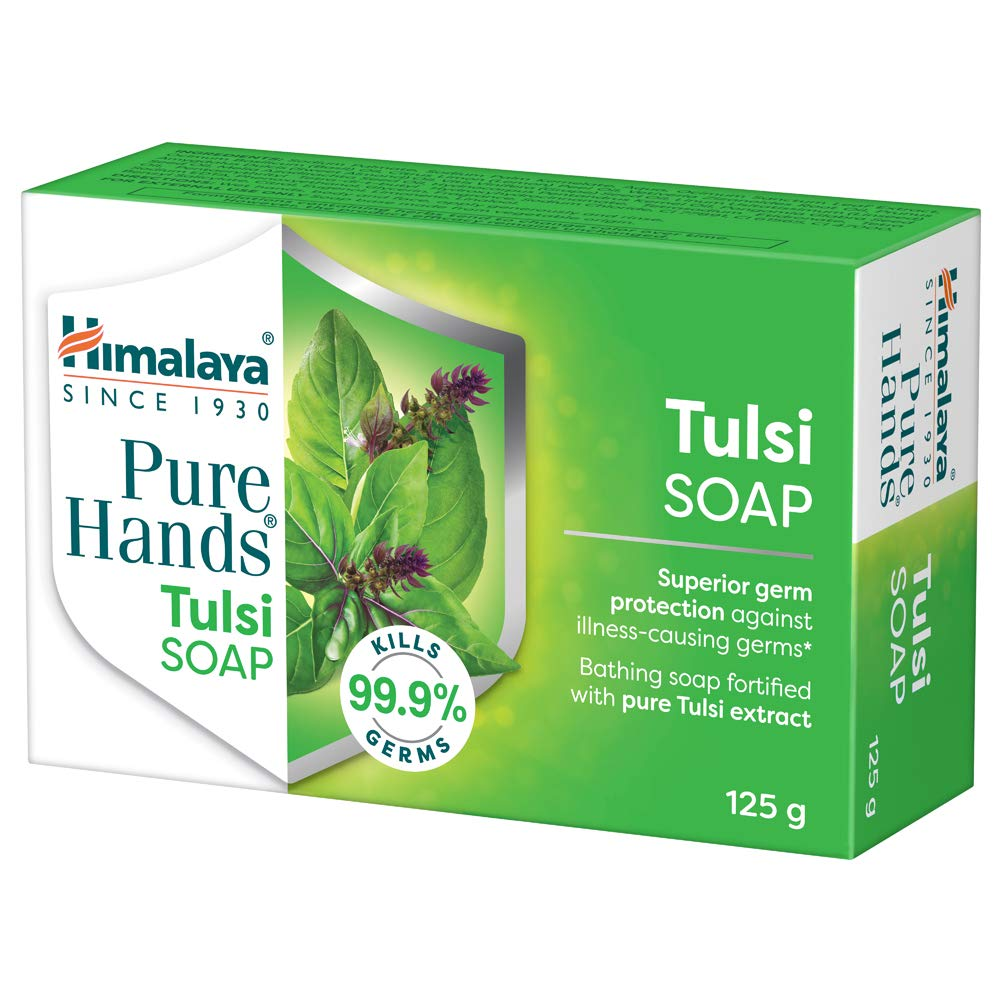 [Apply coupon] Himalaya Pure Hands Tulsi Soap, 125 g (Pack of 6)