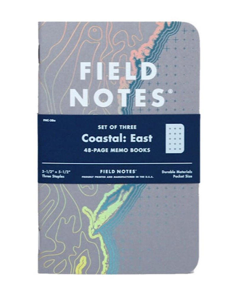 Field Notes Coastal: East Special Edition Recital Grid Memo Books, 3-Pack (3.5x5.5-Inch) Spring 2018 by Field Notes
