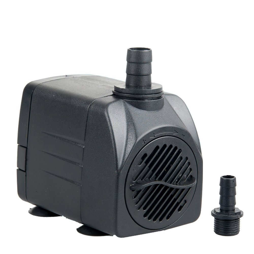 Owncons 400 GPH (1500L/H) Submersible Pump 25W Fountain Quiet Water Pump Pool, Aquarium Fish Tank, Pond, Hydroponics