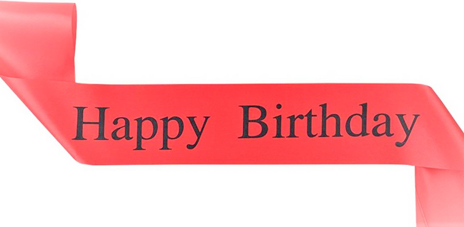 Amazon com: Elegant Red Happy Birthday Sash - Perfect for