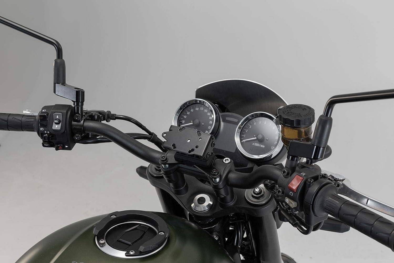 Sw Motech Gps 08 646 10900 B Abnehmbarer Navi Halter Im Cockpit Für Kawasaki Z900rs 2017 Schwarz Auto