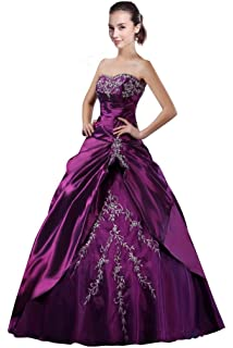 DLFashion Sweetheart A-line Embroidered Taffeta Quinceanera Dress