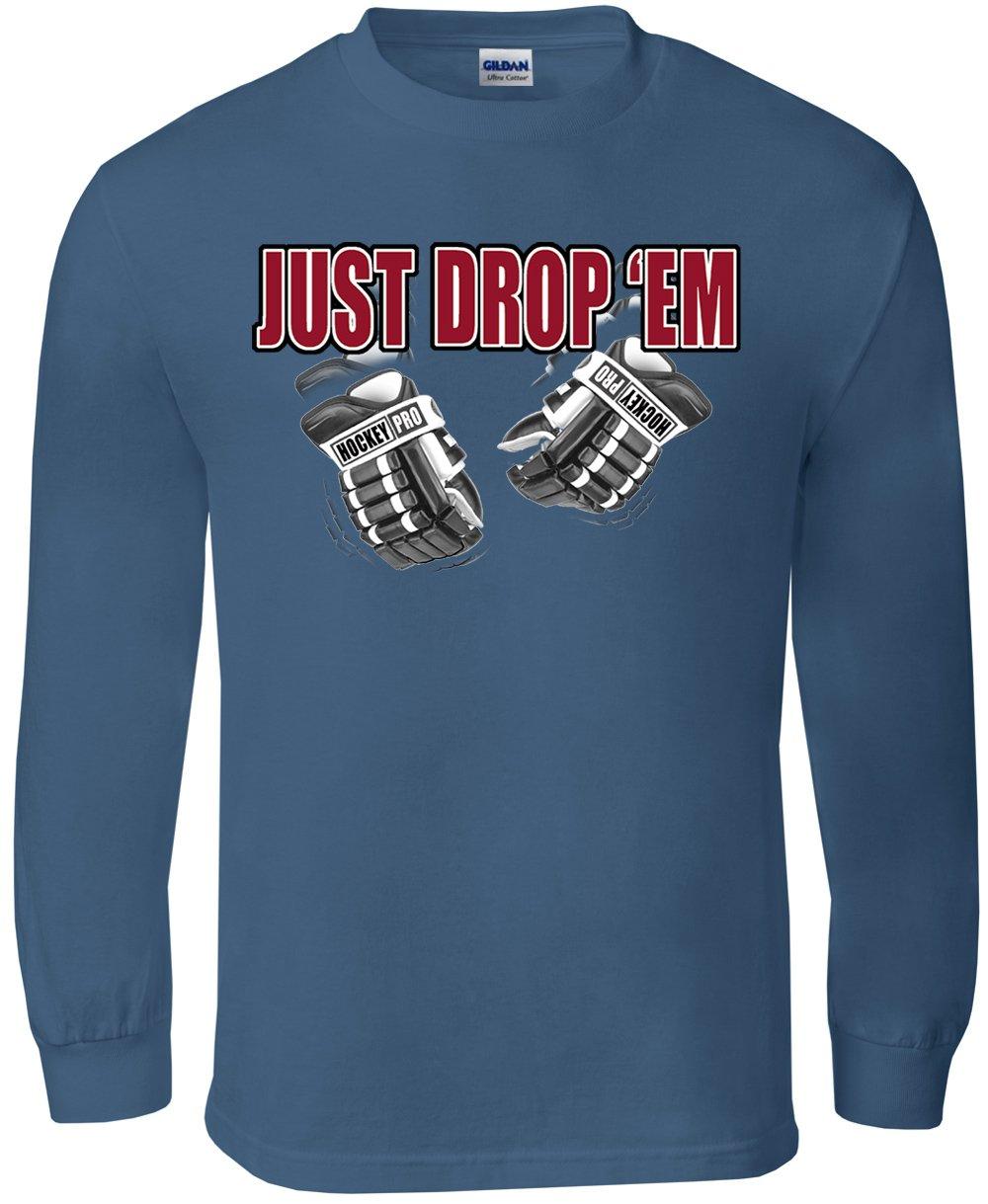 Long Sleeve Hockey T-Shirt Just Drop Em