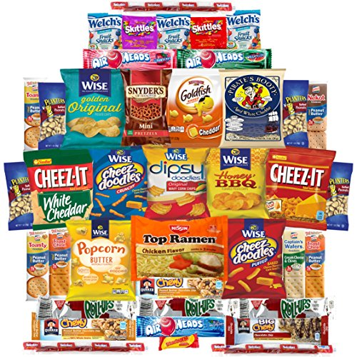 Sweet & Salty Snack Sampler - Care Package - Gift Pack - Variety of 40 Chips, Candies & Cookies Included (40 (Cream Filled Halloween Cupcakes)