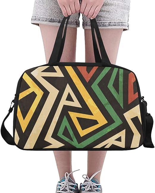 Emoya Sac de Sport /à bandouli/ère Motif Cachemire Africain Tribal Multicolore