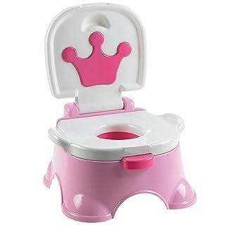 Gris//Bleu//Rose//Vert Hvoz Tabouret de Toilettes 2 marches antid/érapant